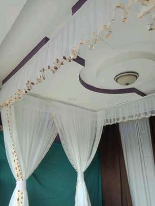 Mosquito Nets Sliding Like Curtains Fixed On The Ceiling image 10