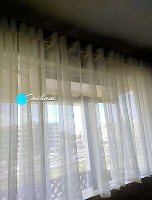 sheer kitchen curtains image 1