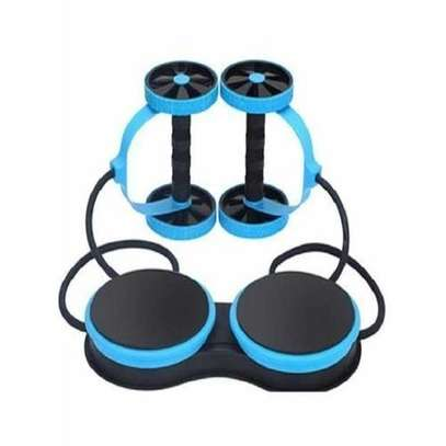 Multifunctional Abdominal Wheel Fitness Trainer - Blue & Black - black and blue