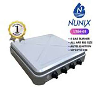 Nunix 3 Gas + 1 Electric Hot Plate Table Top Cooker Burner S image 1