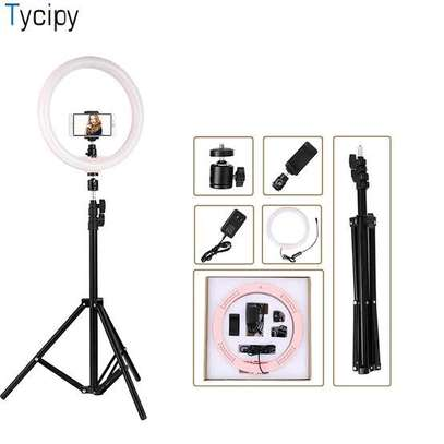 Ringlight with Tripod Stand and Phone Holder Compatible with all phones image 2