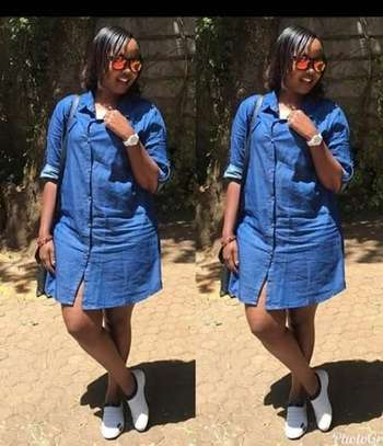 Denim Shirt Dress image 2