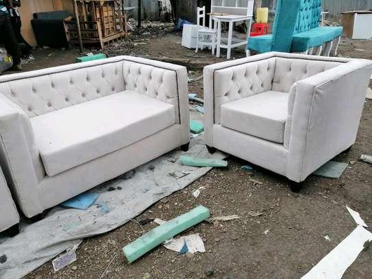 Chesterfield sofa set image 2