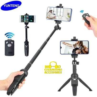 Yunteng YT-9928 Handheld Tripod Monopod Selfie Stick w/ Bluetooth Remote Shutter image 1