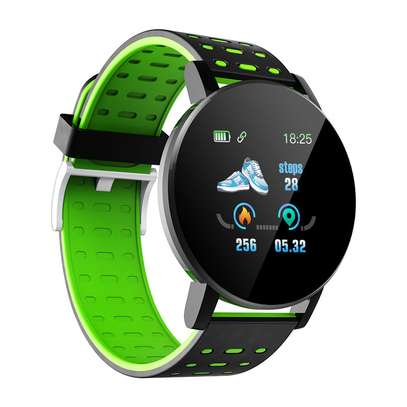 Fitness Tracker  with Heart Rate Blood Pressure   Step Calorie Counter Pedometer Waterproof  -Green image 5