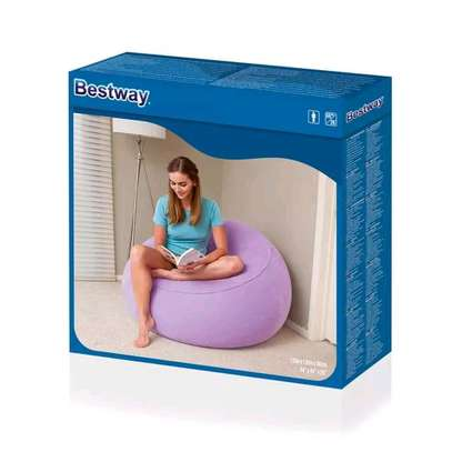 Bestway inflatable flocking bean bag chair with pump image 4