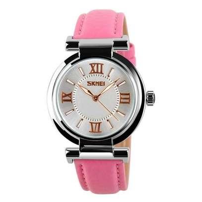 Skmei Women Fashion Luxury 9075 Dress Watch Leather Strap image 1