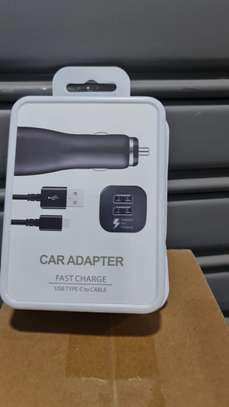 Samsung Car adapter, fast charge usb type C to cable. image 1
