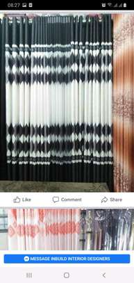 GREY FLOWERED CURTAINS image 1