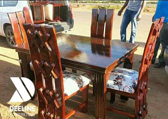 5 Piece Mahogany Framed Dining Table Sets. image 8