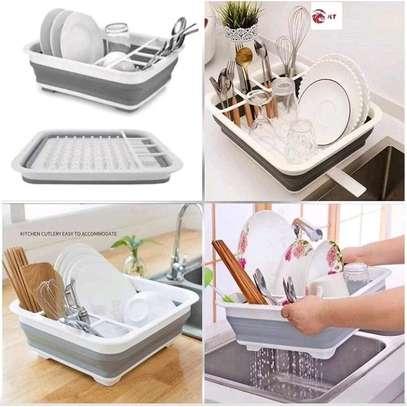 Foldable kitchen drainage rack image 2