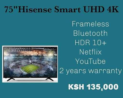 75 Hisense Smart Frameless Bluetooth +Free Wall Mount image 1