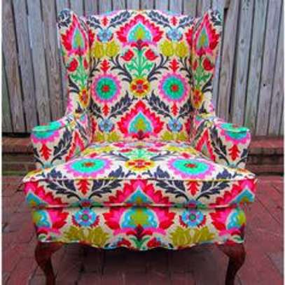 Kitenge Armchairs/Wing back chairs image 5