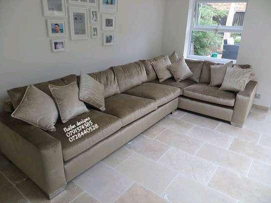 Six seater L shaped sofas/sofas/modern furniture image 1