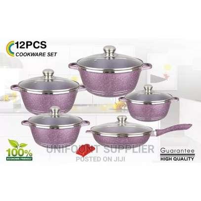 12pcs Dessini Granite Cookware Set image 1