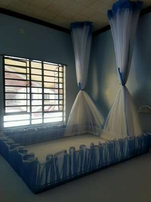 Rail Shears Mosquito Nets Sliding Like Curtains Fixed On The Ceiling image 5
