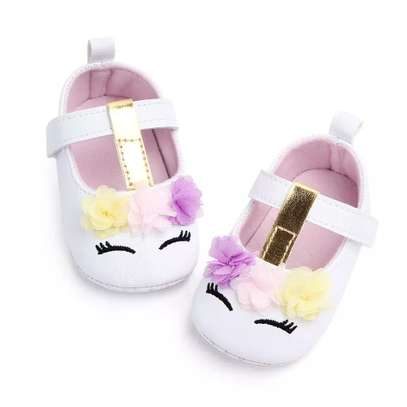 Cute PU leather baby girl shoes image 1