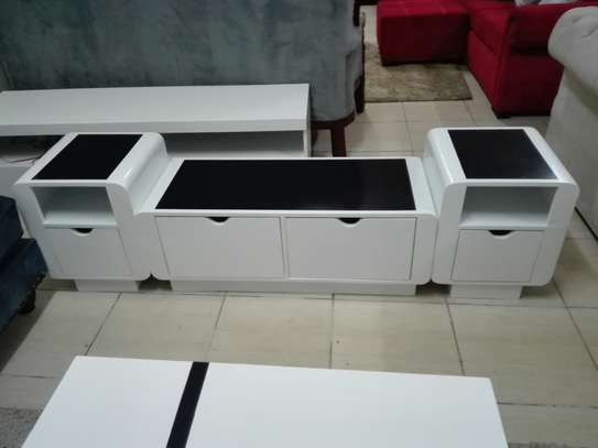 SALE: Good black and white tv stand