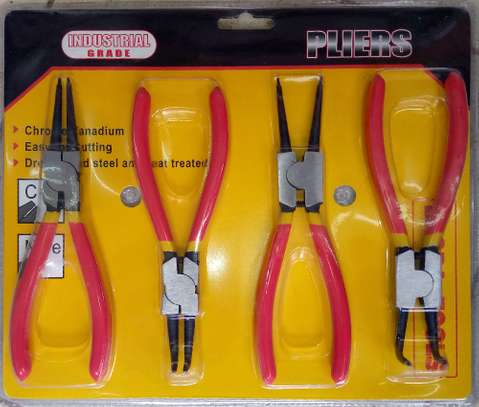 Set of 4 Circlip Snap Ring Needle Nose Round Pliers image 2