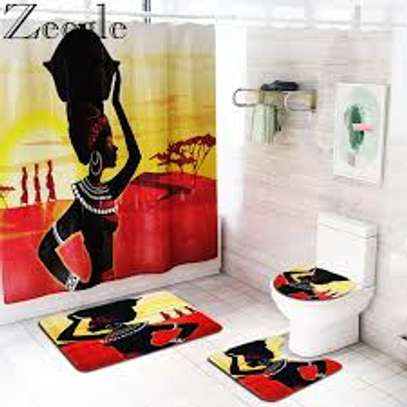 African themed bathroom mats image 3
