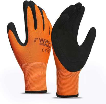 5 pairs Latex Foam Rubber Coated Work Gloves image 1