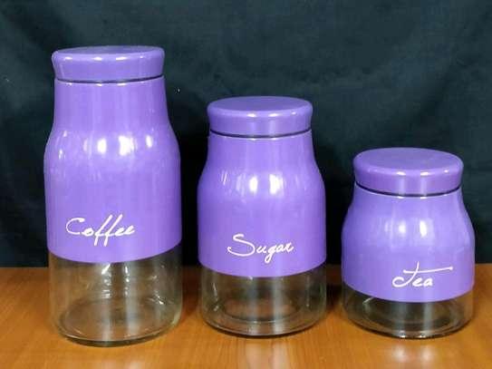 HDC790-6 glass jar set of 3pcs image 1