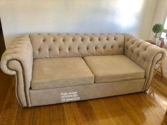 Modern beige three seater sofas for sale in Nairobi Kenya/chesterfield sofas for sale in Nairobi Kenya image 1