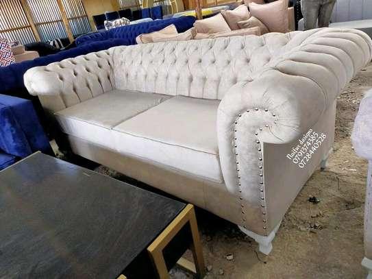 Modern beige chesterfield sofas for sale in Nairobi Kenya/three seater sofas for sale in Nairobi Kenya image 1