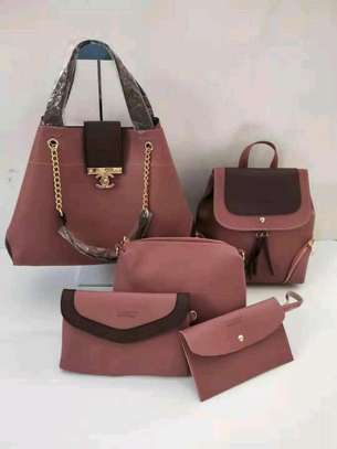 5in 1 Leather Handbags