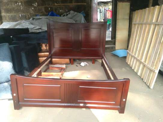 Mahogany wood bed image 1