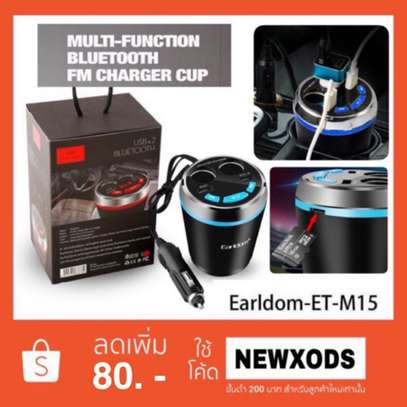 Earldom ET-M15 Smart Current Demitasse USB and Cigarette Car Charger With USB/Bluetooth Player and FM Transmitter image 4