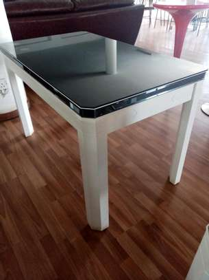 Black and white dining table image 1