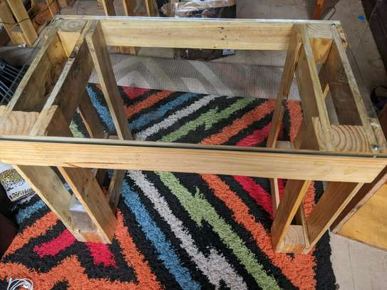 Rustic Glass Top Table