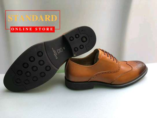 PURE ITALIAN LEATHER SHOES WITH RUBBER SOLE image 21