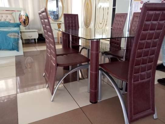 6Seater glass Dining Table image 3