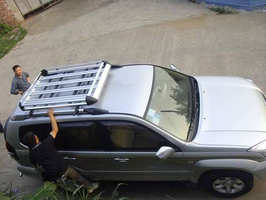 Aluminum Car Roof Cargo Carrier Luggage Basket Rack Top image 1