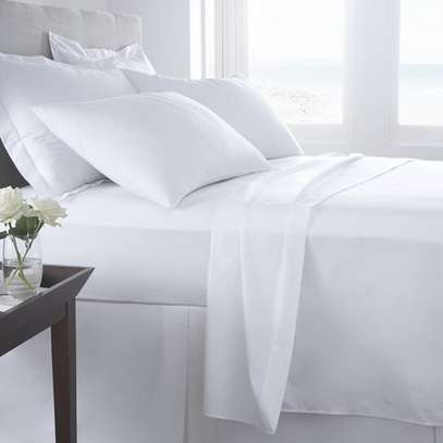 4PC WHITE COTTON BED SHEET-6*6