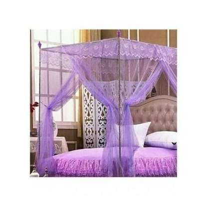 Universal Mosquito Net with Metallic Stand - Purple image 1
