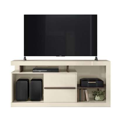 TV Stand Rack ( Belaflex ) Monaco Off White - Up to 65 Inch TV Space