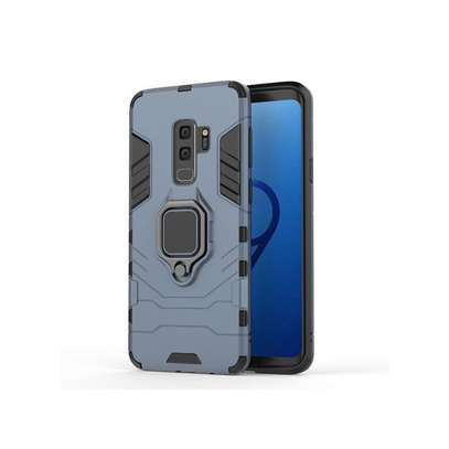 Galaxy S9 Phone Case Soft Silicone Case For Samsung Galaxy Magnetic Finger Ring Case Cover Armor Back Coque-Navy image 1