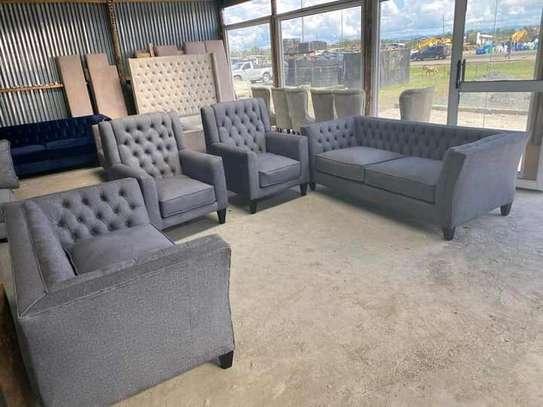 Grey seven seater chesterfield sofas for sale in Nairobi Kenya/latest sofa designs for sale in Nairobi Kenya image 1