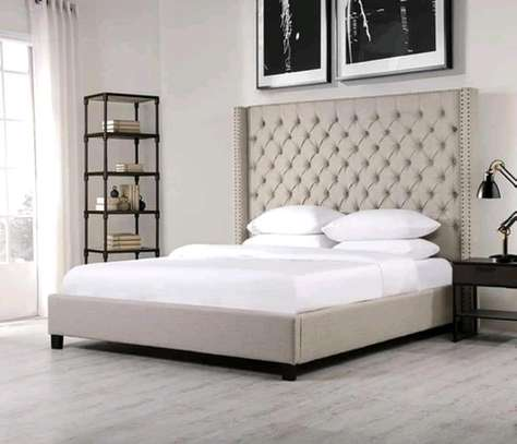 King size tufted bed image 1
