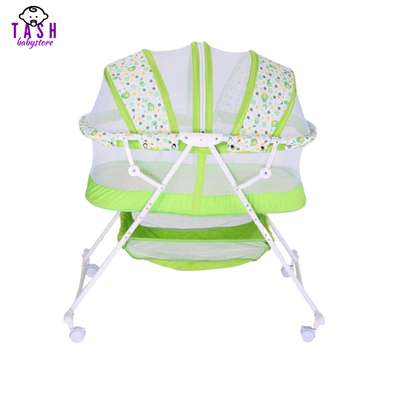 Metal Baby Crib/Baby Bed/Bassinet with a Zipper image 1