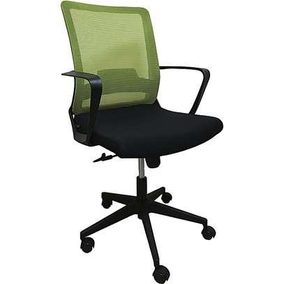 Mesh Waiting Office Chair – Green in Kisii Kenya  at Neilan furniture image 1