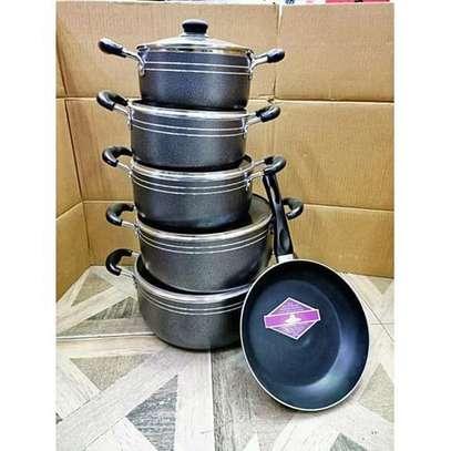 Non Stick Cooking Pots And Sufurias -Black-tc 11pcs image 1