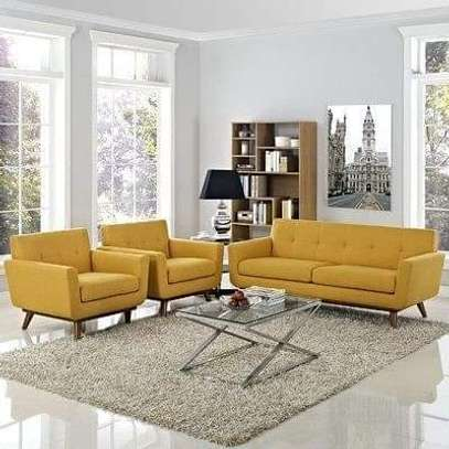 Yellow 5 seater sofa image 1