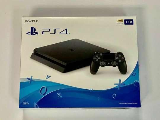 PS4 Slim 1TB Console - (Jet Black) Brand New image 1