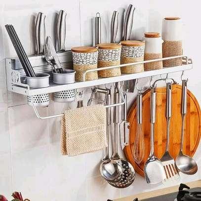 Aluminium kitchen floating shelf image 1