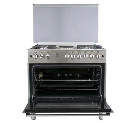 Standing Cooker, 90cm X 60cm, 5GB, Electric Oven, Half Inox image 2