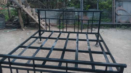 METAL FRAME BED WITH WOODEN FINISH FROM 3*6 TO 6*6 image 8